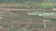 Stock Video Footage of Cambodian countryside, aerial view