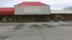 Stock Video Footage of Retail Recession Derelict Mall In The U.S.