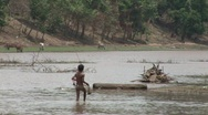 Stock Video Footage of Cambodia boy fishing