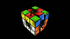 Cube Puzzle Part 3 Stock Footage