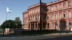 Casa Rosada, side front Stock Footage