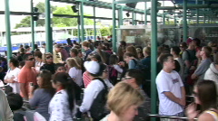 Large amount of People in Line Stock Footage