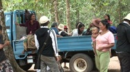Stock Video Footage of Cambodians around truck