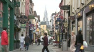 Stock Video Footage of Shoppers on Cook Street, Cork City