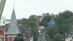 Fr. Matthew Statue, Patrick Street, Cork Stock Footage