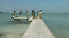 Pier on Sanible Island Florida 1 Stock Footage