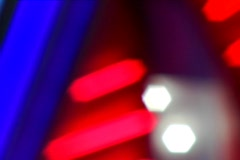 Defocused Neon at a Casino - stock footage