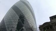 360º Gherkin shot London Stock Footage