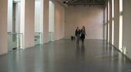 Stock Video Footage of visiting the gallery