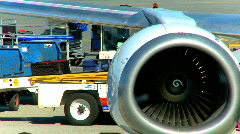 Commercial airline flight Stock Footage