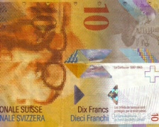 10 swiss fr pan Stock Footage