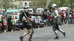 2 handed sword fight - stock footage