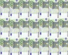 100 euro columns Stock Footage