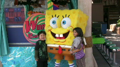 Spongebob at Universal Studios Stock Footage