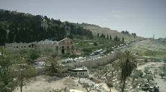 Jerusalem Gethsemane pan 1 Stock Footage