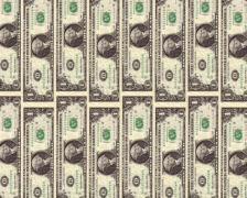1 dollar colomn down Stock Footage