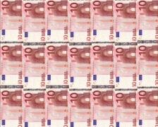 10 euro columns Stock Footage