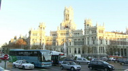 Stock Video Footage of Cibeles square Madrid Spain 2