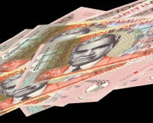 Floating 100 rupees Stock Footage