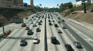 LA City Freeway Traffic Stock Footage