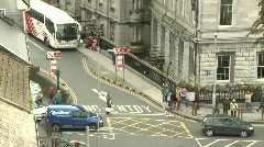 Galway City Bus Station from above Stock Footage