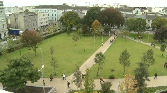 Galway Eyre Square From Above Stock Footage