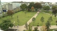 Stock Video Footage of Galway Eyre Square From Above