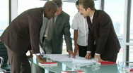 Businessteam discussing about a businessproject Stock Footage