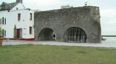 Galway Spanish Arch Sequence Stock Footage