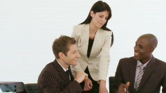 Businessteam talking in a meeting Stock Footage