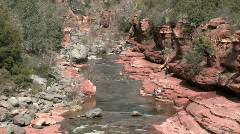 Red rock river family Sedona P HD Stock Footage