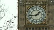 Big Ben Clock Face Stock Footage
