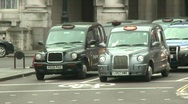 London Black Cabs Stock Footage
