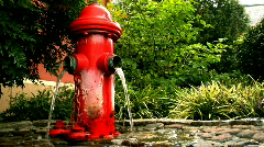 Fire Hydrant Converted to a Fountain - stock footage