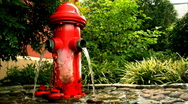 Fire Hydrant Converted to a Fountain Stock Footage