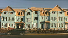 Houses under construction. Stock Footage