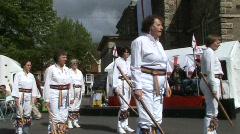 Morris dancing, lady warriors Stock Footage