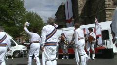 Morris dancing, handkerchiefs Stock Footage