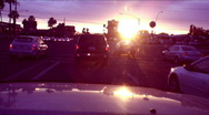 Stock Video Footage of Evening sunset glare - driving - 2