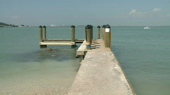 Boat Pier on Sanible Island Florida Stock Footage