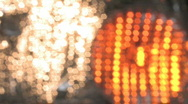 Rain on Lights 2 Stock Footage