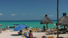Beach at a hotel resort 3 Stock Footage