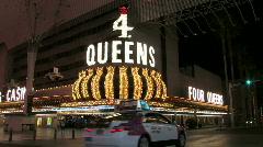 Las Vegas downtown very late night M HD Stock Footage
