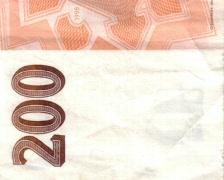 200 kroon background Stock Footage