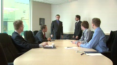 Employee awarded in front of workmates - stock footage