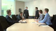 Stock Video Footage of Employee awarded in front of workmates