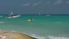 Watersport in the Caribbean Sea Stock Footage