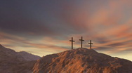 Three cross on Calvary Stock Footage
