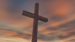 cross on Calvary - stock footage