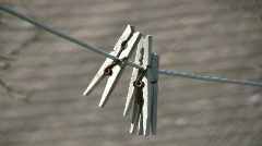 clothespin - stock footage